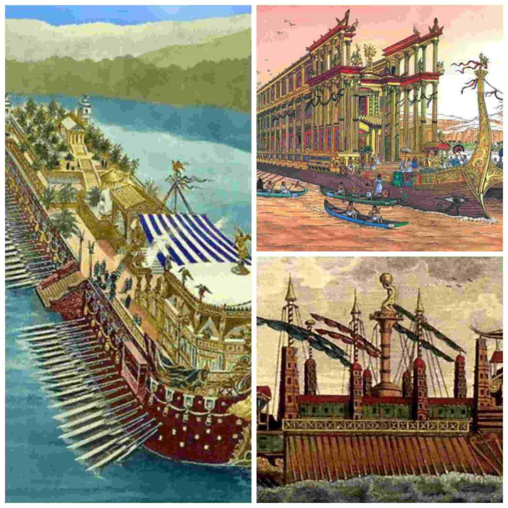 Megabarcos de la Antigüedad