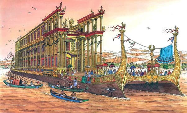 Megabarcos de la Antigüedad: la Thalamegos