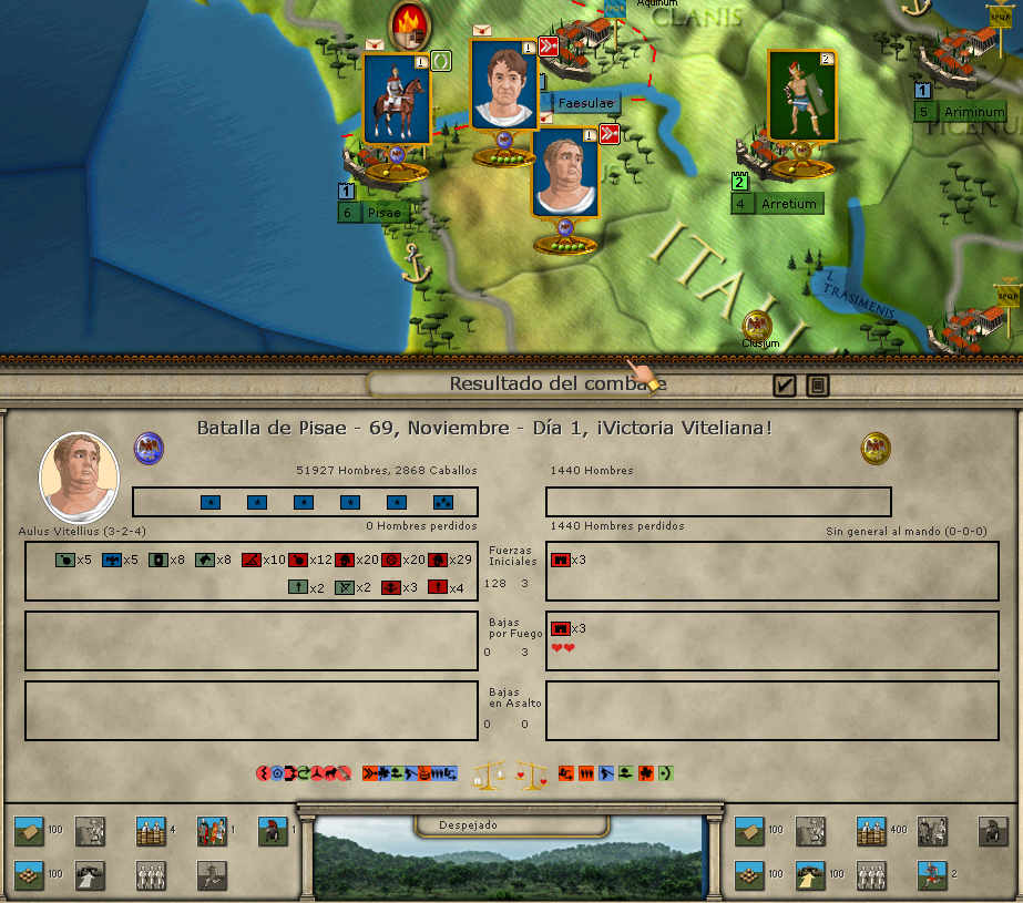 Cuatro Emperadores. Alea Jacta Est