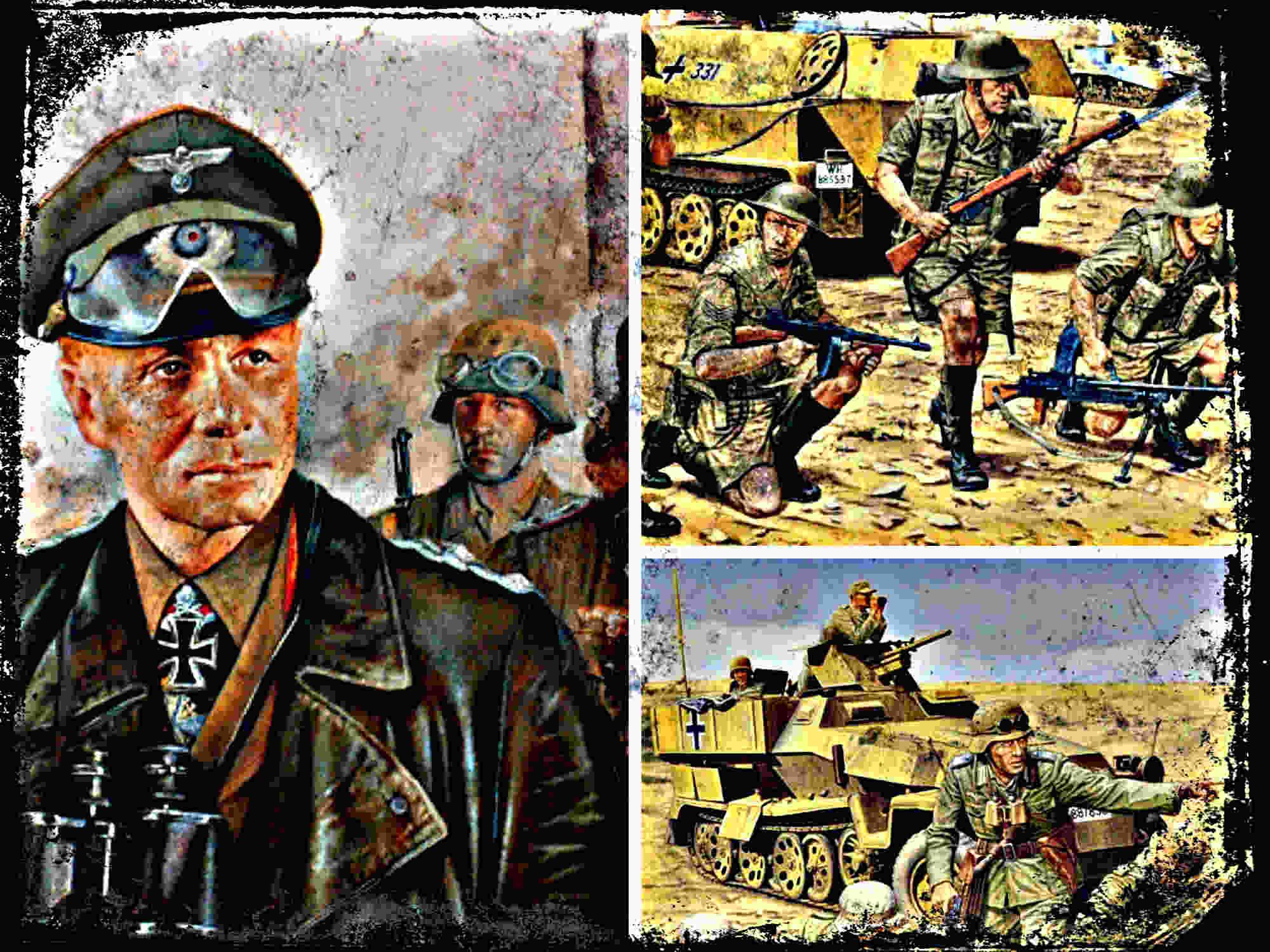 La guerra en el desierto, Afrika Korps y el VIII Ejercito Británico