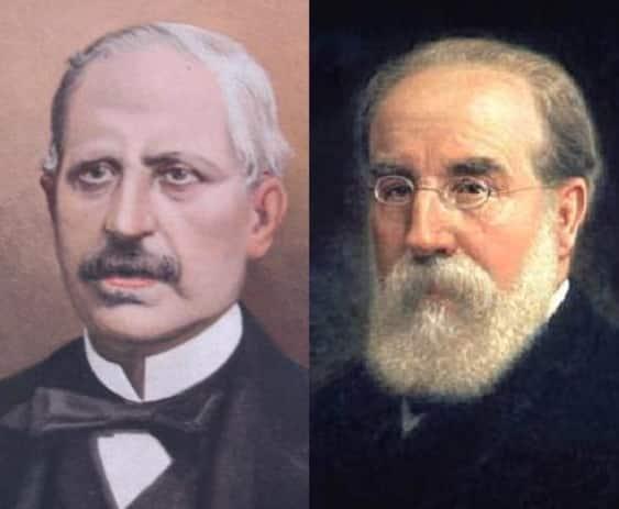 Los dos primeros presidentes de la I República: Figueras y Pi y Margall