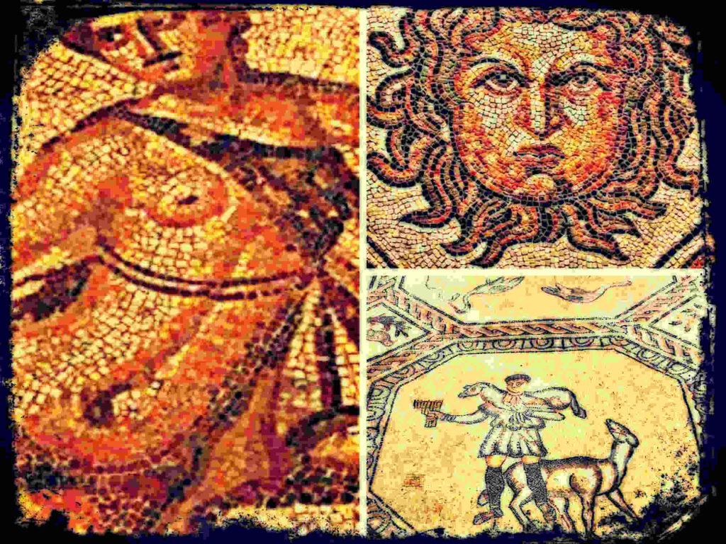 Mosaico romano, la sinuosidad del gusano