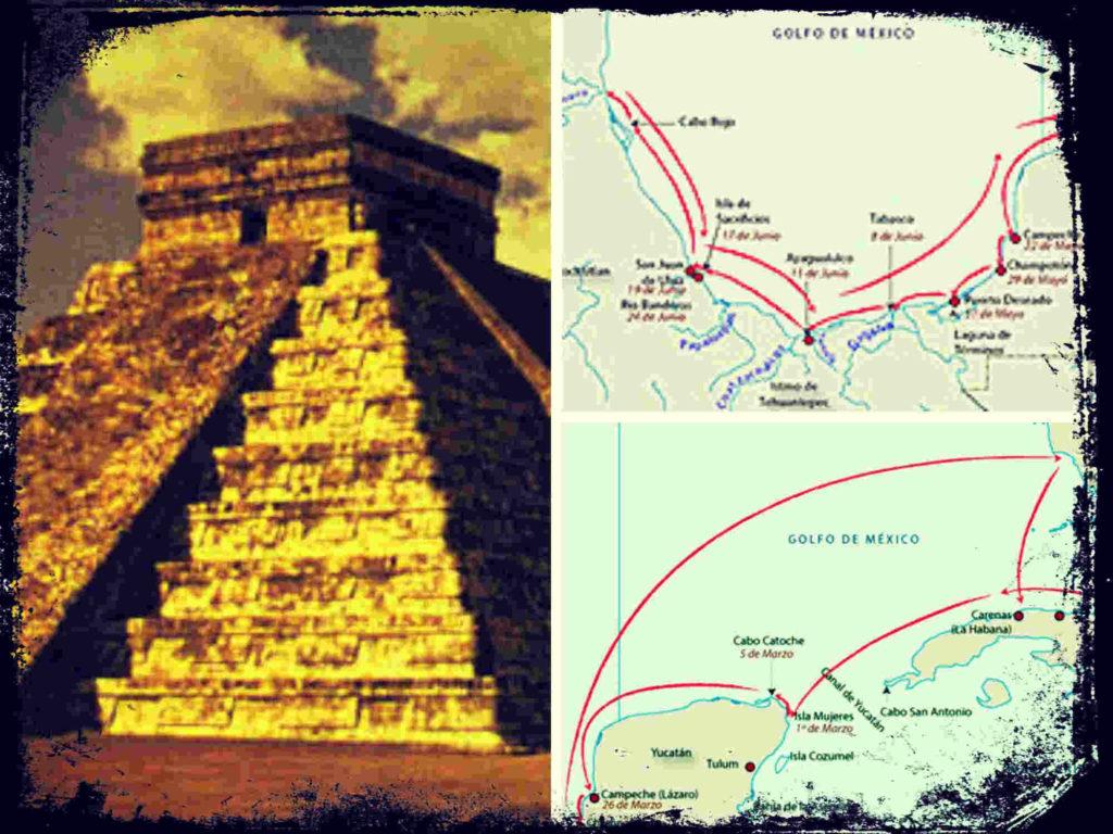 Las expediciones mexicanas anteriores a Cortés, Hernández de Córdoba y Juan de Grijalva