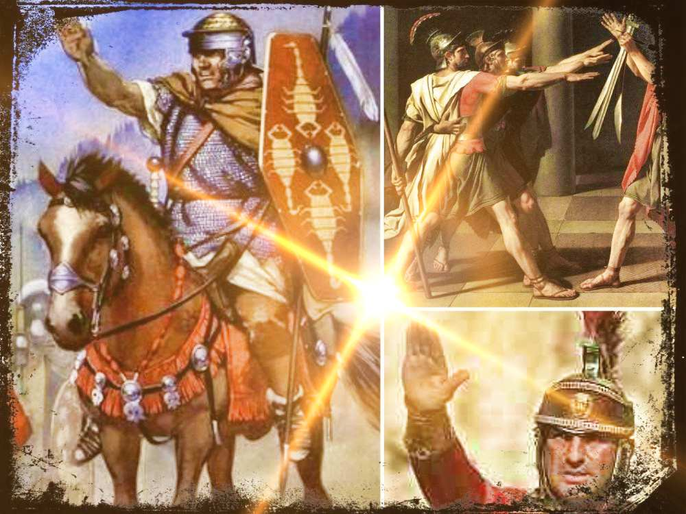 El saludo a la romana, un saludo Íbero