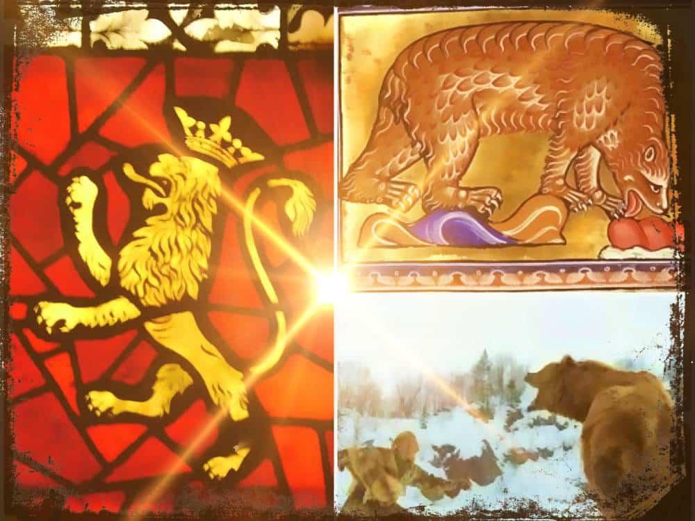 Una guerra simbólica, representación de osos y leones en la Edad Media