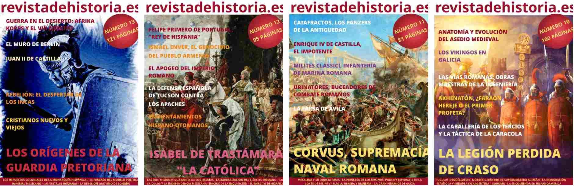 Algunas portadas de Revista de Historia digital