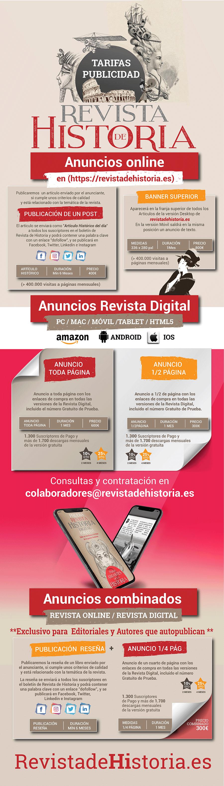 Tarifas de Publicidad Revista de Historia