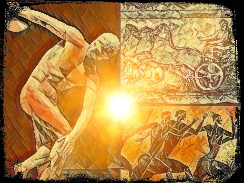 Los juegos atléticos de Olimpia (u olímpicos)